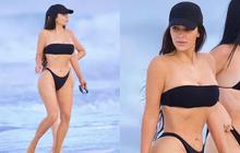 """Kim """"siêu vòng 3"""" diện bikini khoe body phồn thực với tỉ lệ khó tin, ai ngờ mặt mộc còn gây chú ý hơn vì quá đỉnh"""