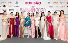 CEO Lâm Ngân diện váy của NTK Công Trí tại họp báo Hoa hậu Việt Nam 2020