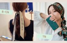 Mê mẩn loạt phụ kiện tóc giá từ 4K giúp nàng giữ được mái tóc gọn gàng, xinh xắn ngay cả khi làm việc tại nhà