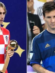 Modric gợi nhớ hình ảnh Messi, buồn bã nhận giải Quả bóng vàng World Cup 2018