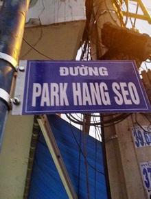 Gỡ bỏ bảng tên… Park Hang-seo tại một con đường ở Sài Gòn