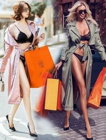 """Ảnh diện nội y ỡm ờ của Ngọc Trinh bị nghi """"cosplay"""" người mẫu Nga: giống từ cách lên đồ, dáng pose cho đến cả túi shopping"""