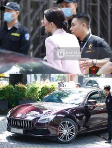 Hương Giang lái siêu xe Matt Liu tặng đến workshop cuộc thi sắc đẹp cho mỹ nhân chuyển giới, giật trọn spotlight với khí chất sang chảnh