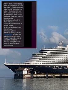 Sự thật thông tin 8 hành khách trên du thuyền MS Westerdam đã đến Hà Nội vào tối nay