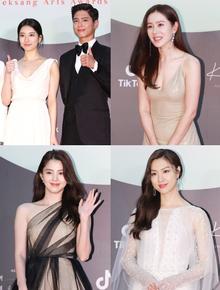 """Siêu thảm đỏ Baeksang 2020: Son Ye Jin xẻ ngực cực nóng đọ sắc tiểu tam """"Thế giới hôn nhân"""", Park Bo Gum lại tránh Suzy?"""