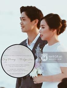 Rò rỉ thiệp cưới chính thức của Công Phượng, hé lộ luôn thông tin về địa điểm đặc biệt tại Nghệ An