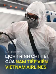 INFOGRAPHIC: Toàn bộ lịch trình của nam tiếp viên Vietnam Airlines từ lúc sai phạm trong khu cách ly tập trung đến khi phát hiện mắc Covid-19