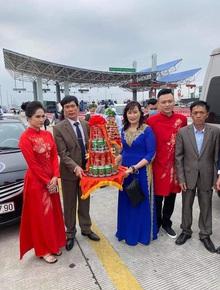 Câu chuyện nhà trai không được vào Quảng Ninh đón dâu vì Covid-19: Hai gia đình đã gặp gỡ, trao lễ ngay tại... trạm BOT