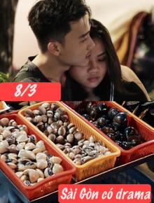Sài Gòn đêm 8/3 có drama gì: Các đôi ăn ốc chủ quán đổ vỏ không kịp, dẫn bạn gái đi xem phim không chịu đặt vé trước và cái kết