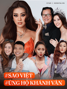 Gia đình và dàn sao Vbiz đồng lòng ủng hộ Khánh Vân trước Chung kết Miss Universe, nhuộm đỏ cả MXH bằng màu cờ Việt Nam