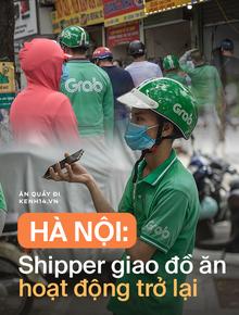 Hà Nội bắt đầu được giao đồ ăn trở lại: Shipper xếp hàng dài chờ mua trong khi khách gọi điện giục liên tục