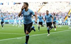 Luis Suarez ghi bàn trong trận đấu thứ 100 giúp Uruguay giành vé vào vòng knock-out World Cup 2018