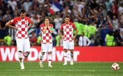 Cầu thủ Croatia rơi nước mắt cay đắng nhìn Pháp vô địch World Cup 2018