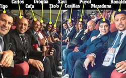 Bức ảnh gây bão trong ngày khai mạc World Cup: 10 huyền thoại ngồi chung một hàng ghế