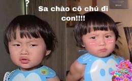 """""""Sa chào cô chú đi con!"""" đang là câu nói lây lan cực mạnh trên MXH, em bé Việt lai Nhật bị mẹ nhắc chào gần 400 lần như thế còn thú vị hơn nữa!"""