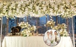 """Không gian đám cưới Bảo Thy tại khách sạn 6 sao siêu sang chảnh: Trang trí giản đơn nhưng vẫn toát lên gia thế """"khủng""""!"""