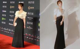 Ảnh thực tế và photoshop của Dương Tử tại sự kiện: Bị chê bai vì chỉnh quá đà, body chẳng khác siêu mẫu Victoria's Secret
