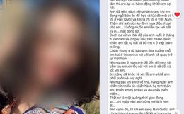 Những dòng tin nhắn cuối cùng nghi của cô dâu Việt gửi chồng Hàn trước khi bị sát hại khiến nhiều người xót xa