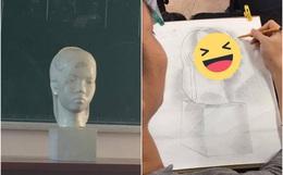 Sinh viên Mỹ thuật trổ tài vẽ mẫu vật nhưng khác xa một trời một vực, giáo viên nhìn thấy liền cho ngay 0 điểm