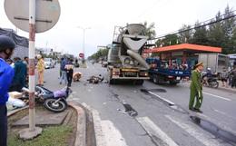 Nam thanh niên chết thảm, shipper thất thần sau tai nạn liên hoàn giữa 2 xe máy và xe trộn bê tông