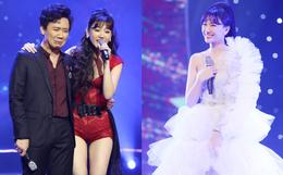 """Trấn Thành """"phá"""" kịch bản, cùng cả dàn sao Việt tặng điều bất ngờ khiến Hari Won rơi nước mắt trong concert đầu tiên của sự nghiệp"""