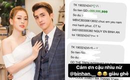 Choáng với hình ảnh Bình An lì xì bạn gái Phương Nga gần cả tỷ đồng: Con số lên đến 999.999.999, nhưng sự thật là gì?