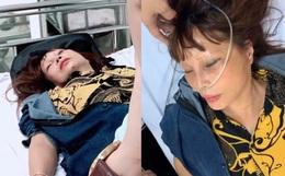 """""""Cô dâu 62 tuổi"""" bất ngờ phải nhập viện cấp cứu, chồng trẻ chia sẻ tình hình sức khỏe và nguyên nhân khiến vợ bị sốc"""
