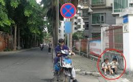 Cho 2 con ngồi bệt ở góc đường ăn sáng, ông bố không ngờ mình bị chụp ảnh, nhận lời khen tới tấp vì 1 hành động nhỏ của đám trẻ