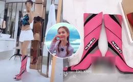 Ngọc Trinh gây sốc khi mua đôi giày có hình bộ phận sinh dục dù bị chỉ trích, còn chia sẻ bình luận phản cảm của Thúy Kiều