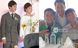 Đám cưới Công Phượng tại Nghệ An: Tân lang tân nương đan chặt tay nhau trên lễ đường, Dế Choắt - Văn Đức rạng rỡ chung khung hình