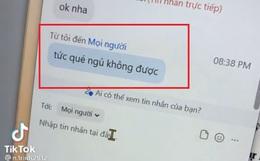 """Nữ sinh gửi nhầm tin nhắn vào nhóm chat lớp khi học online, thầy giáo nhìn thấy liền """"khịa"""" vài câu mà ai cũng phục lăn"""