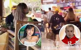 """Cuối cùng Binz - Châu Bùi đã bị """"tóm sống"""" ảnh hẹn hò bên nhau và đây là biểu cảm của chàng rapper bên người yêu"""