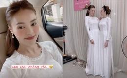 Diện áo dài dự đám cưới em trai, Lan Ngọc khiến netizen ngẩn ngơ vì nhan sắc xinh đẹp, sợ chiếm luôn spotlight của nhân vật chính