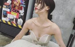 """Khoe ảnh mặc váy cưới, liệu """"chị đại"""" HyunA sắp theo chồng bỏ cuộc chơi?"""