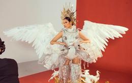 """Lộ diện trọn bộ Quốc phục """"Cò"""" của Hoàng Thùy tại Miss Universe 2019: Liệu có được vỗ cánh thật đẹp trên đất Mỹ?"""