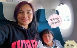 """Bé Sa và mẹ Quỳnh Trần chính thức lên máy bay về Việt Nam, fan hào hứng like mỏi tay, """"hóng"""" ngày được gặp mặt"""