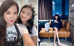 Con gái Trương Ngọc Ánh gây chú ý với đôi chân dài miên man cùng khuôn mặt xinh đẹp trong sinh nhật 11 tuổi