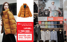 """5 items UNIQLO giảm giá """"kịch"""" đáng sắm nhất dịp khai trương: Sơ mi dạ 399k, áo chống nắng """"phá giá"""" 399k, áo phao rẻ ngang mua tại Nhật"""