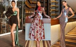 Hoàng Thùy tại Miss Universe 2019: Trang phục đầu tư đã đành, giày cao gót cũng chưa đôi nào đi lại lần 2 kể từ khi sang Mỹ