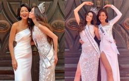 Khoảnh khắc dễ thương của Khánh Vân trong ngày đầu tiên sau đăng quang: Xinh đẹp hết mức, tự tin đọ sắc bên H'Hen Niê và Mâu Thủy