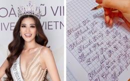Chữ viết tay đỉnh như đánh máy của dàn Hoa hậu Việt: Phạm Hương cũng phải chào thua trước Nguyễn Trần Khánh Vân và Lương Thuỳ Linh
