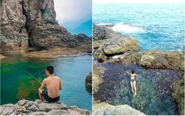 """Đà Nẵng xuất hiện hồ bơi giữa biển đẹp y hệt nước ngoài, dân tình xôn xao: """"Lại sắp bị phá tan tành cho xem!"""""""