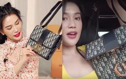 """Bị tố đập hộp toàn đồ fake, Sĩ Thanh """"phản đòn"""" mang hẳn túi ra store kiểm chứng nhưng tiếp tục bị netizen """"bóc"""" loạt chi tiết đáng ngờ"""