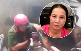 Clip người phụ nữ lao vào giằng co với công an ở Sài Gòn: Đối tượng mới ra tù, dương tính với ma túy