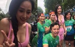 """Mai Phương Thuý lồ lộ vòng 1 và cơ bụng tại giải Marathon, dân tình chỉ chú ý đến lớp makeup và chiếc quần """"sai trái"""""""