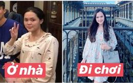 """Có 1 kiểu con gái như Quỳnh Anh: Ở nhà thì xuề xoà chứ đi chơi là """"lên đồ"""" 10 điểm hàng hiệu từ trên xuống dưới"""