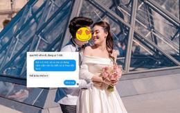 """Lộ tin nhắn của chồng Âu Hà My: Nhắn với vợ thì ngôn tình văn vở, chat với tuesday thì gửi ảnh muốn """"ăn em""""?"""