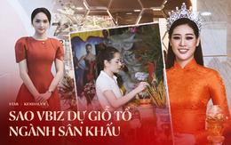 Dàn sao Vbiz dâng hương cúng Tổ nghiệp: Hoà Minzy và Diệu Nhi tươi tắn ở đền thờ tổ 100 tỷ, Chi Pu - Hương Giang đầy nổi bật