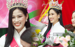 """Loạt ảnh HD """"bóc trần"""" nhan sắc Hoa hậu Đỗ Thị Hà giữa đám đông cả trăm người dân: Bảo sao giành được ngôi vị cao nhất!"""