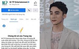 """NÓNG: Rộ ảnh thông báo fanpage 300.000 follower của công ty Sơn Tùng sẽ bị xoá giữa drama """"trà xanh"""""""